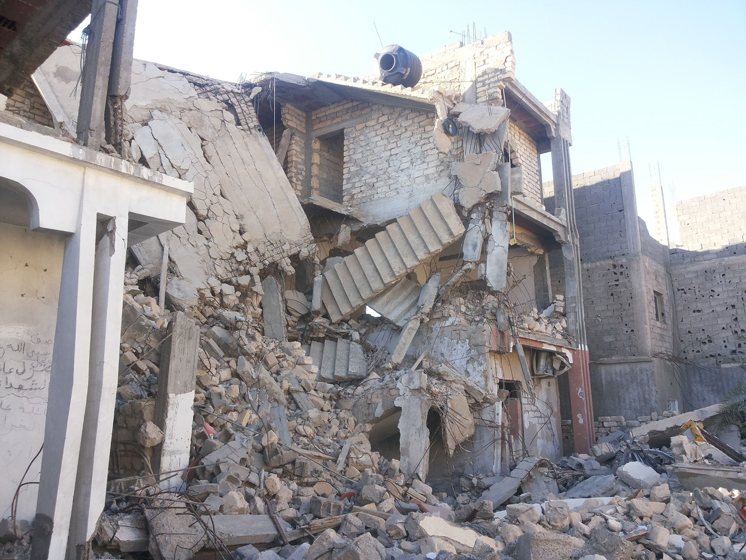 The Gharari family home after an airstrike in the Souq al-Jumaa region of Tripoli on June 20, 2011.