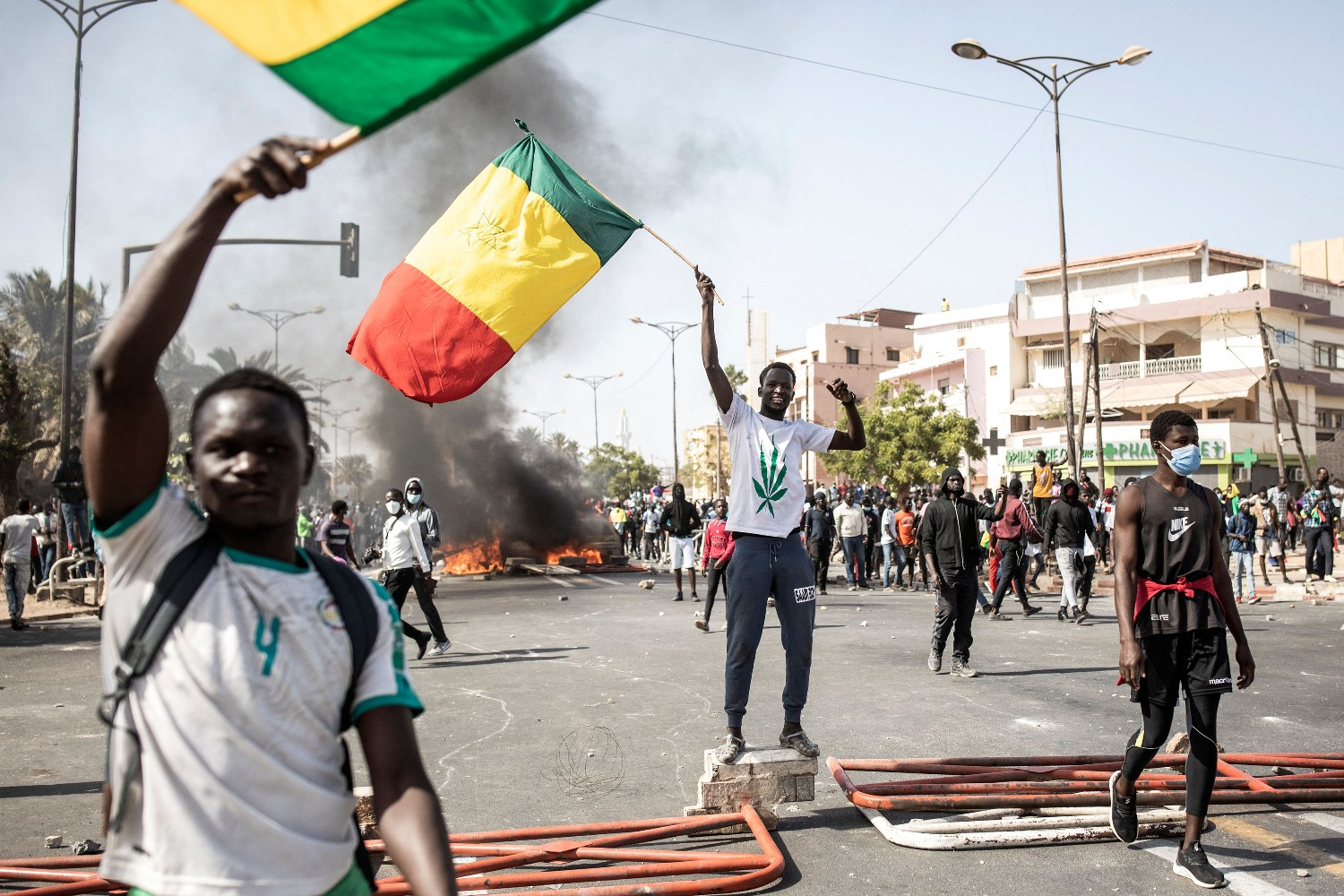 Protesters in Dakar, Senegal, on March 8.
