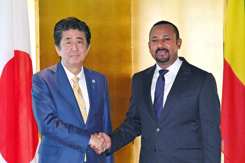 shinzo abe abiy ahmed