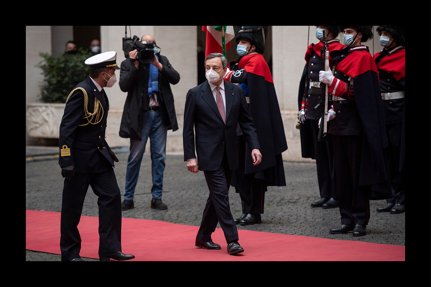 Mario Draghi in Rome as he becomes Italian prime minister.