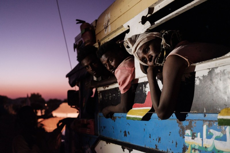 Ethiopian refugees who fled Ethiopia's Tigray conflict