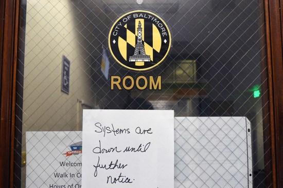 Baltimore office door