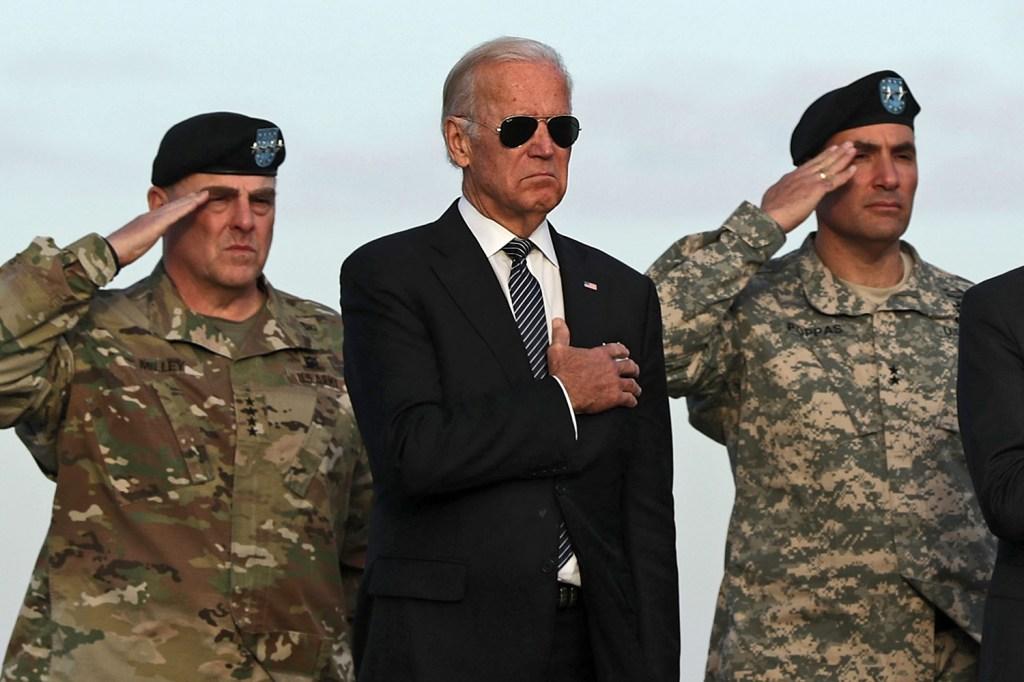 Joe Biden at Dover Air Force Base in Delaware.