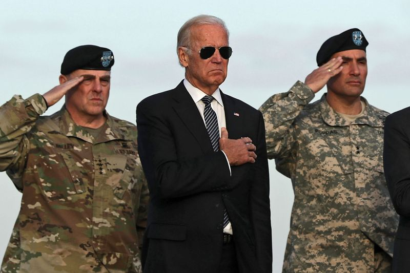 Joe Biden at Dover Air Force Base in Delaware.
