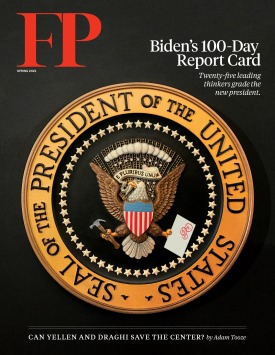Biden-report-card-100-days-foreign-policy-magazine-cover