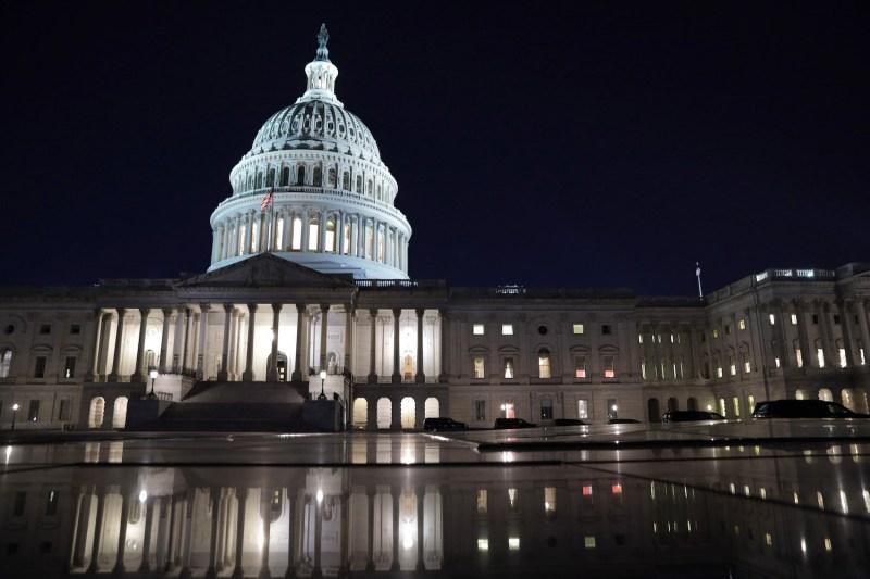The U.S. Capitol is seen in Washington.