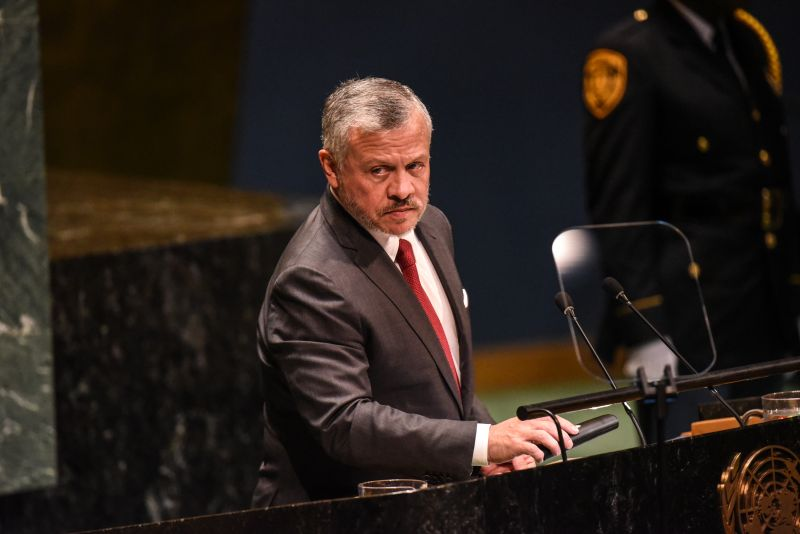 King Abdullah II bin Al Hussein of Jordan speaks at the United Nations General Assembly on September 24, 2019 in New York City.