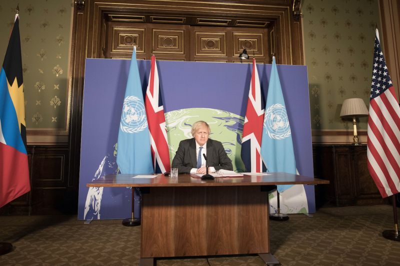 Prime Minister Boris Johnson chairs a virtual session of the U.N. Security Council.