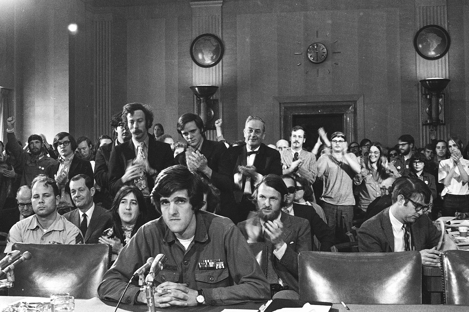 John Kerry speaks about the Vietnam War in front of the Senate Foreign Relations Committee in 1971.