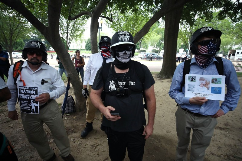 Hate groups gather for the Unite the Right rally in Washington.