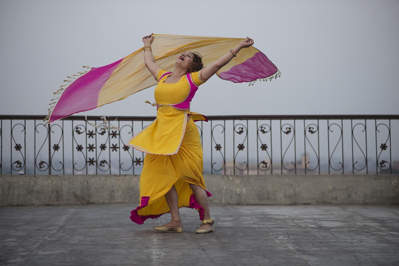 A mujra dancer in Pakistan.