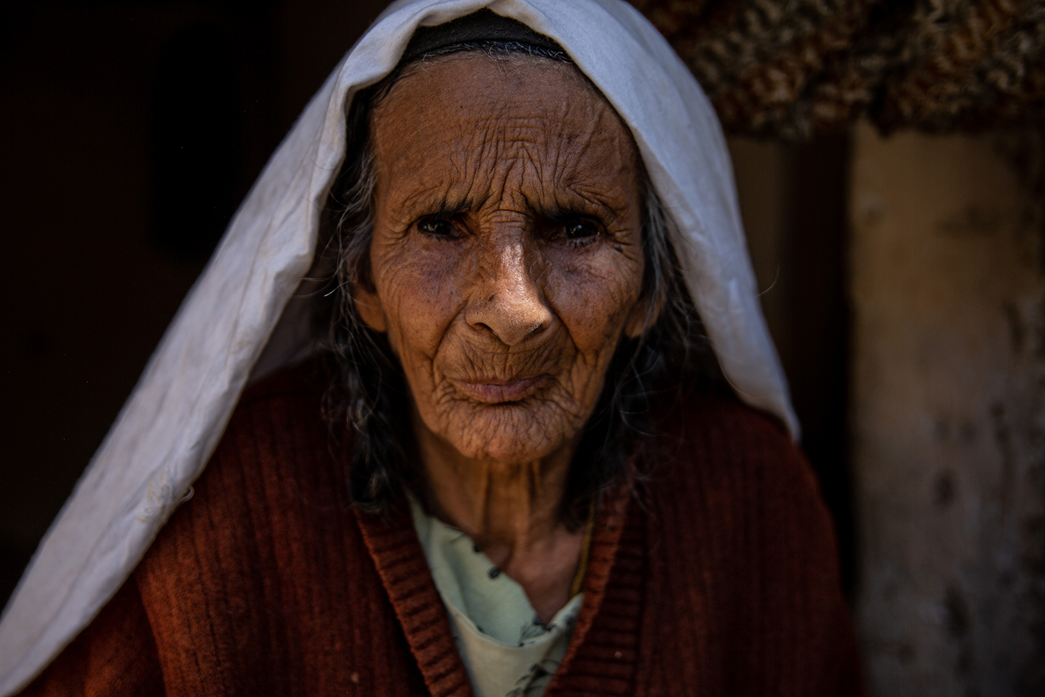 A portrait of Reza Gul, who fled her home when the Taliban attacked the Shomali Plain in 1999.
