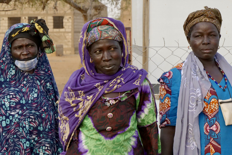 Internally displaced women live at a camp in Kaya, Burkina Faso, on Feb 16.
