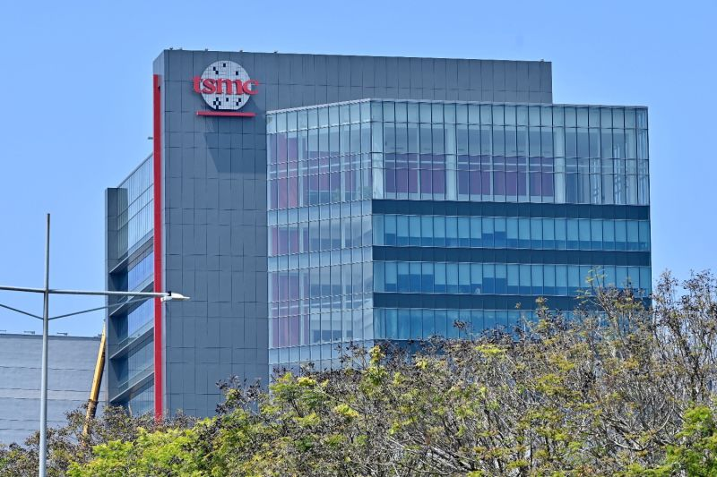 A factory of Taiwanese semiconductor manufacturer TSMC