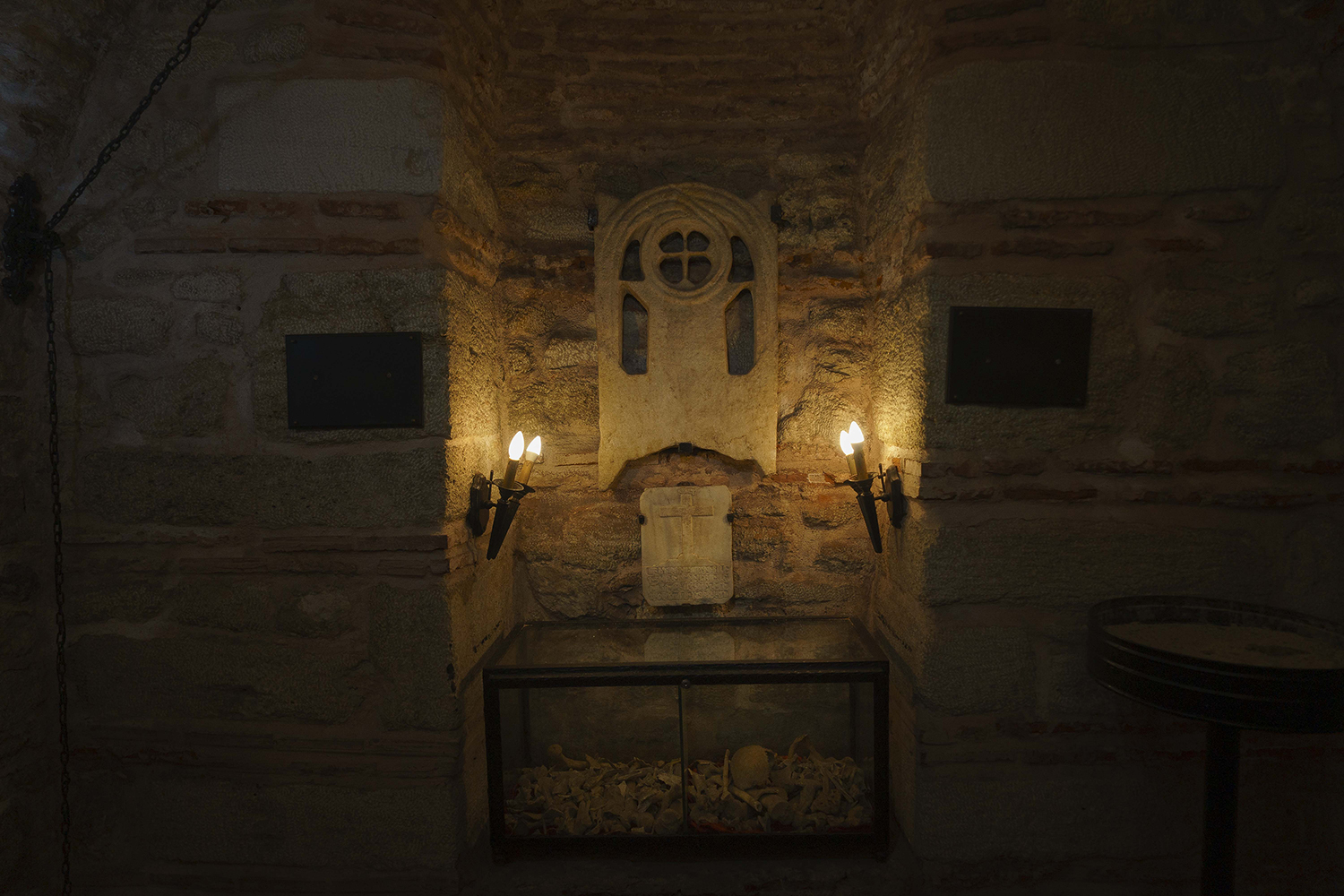 Relics of saints in the Surp Hıreşdagabed Church in Istanbul.