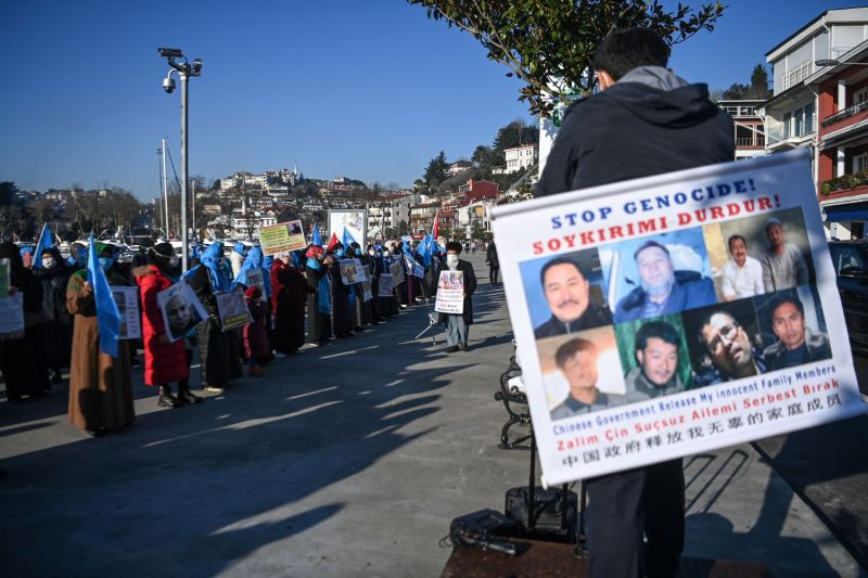 Uyghurs protest lack of information and treaty ratification.