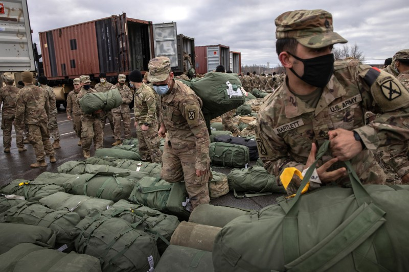 U.S. troops return home from Afghanistan