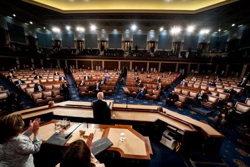 U.S. President Joe Biden addresses Congress.
