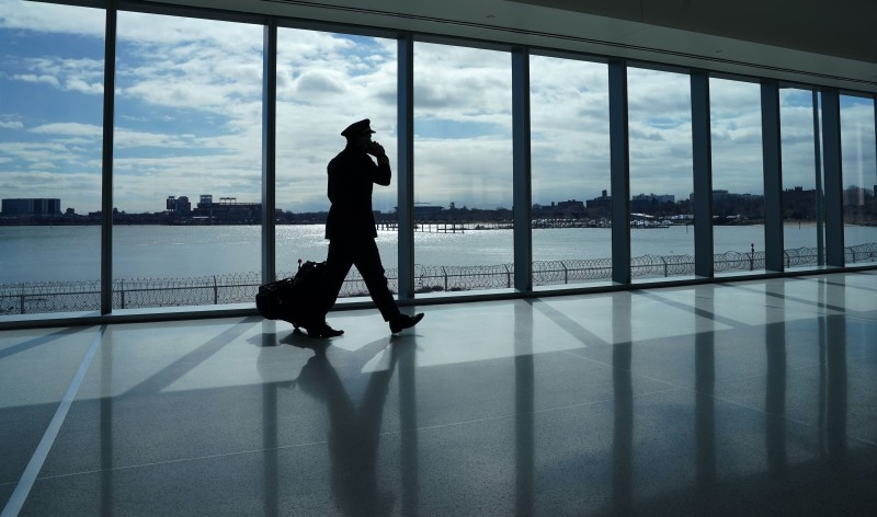 Pilot at LaGuardia Airport in New York