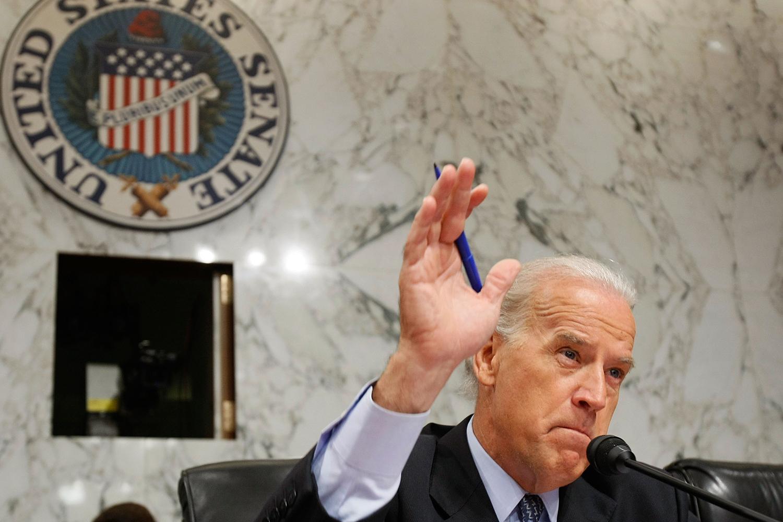 Sen. Joe Biden during a Senate Foreign Relations Committee meeting in 2007.