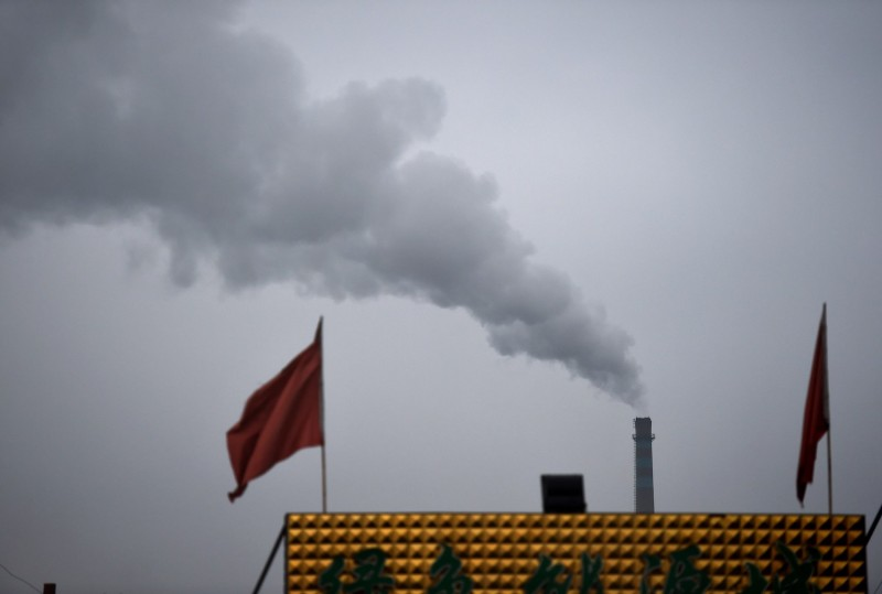Smoke belches from a factory near Datong, Shanxi province, China, on Nov. 19, 2015.