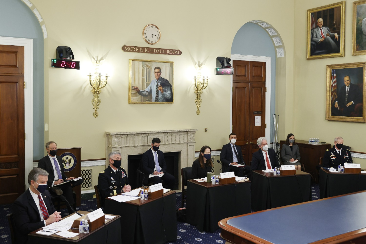 Leaders of the U.S. intelligence community testify before the House Permanent Select Committee on Intelligence.