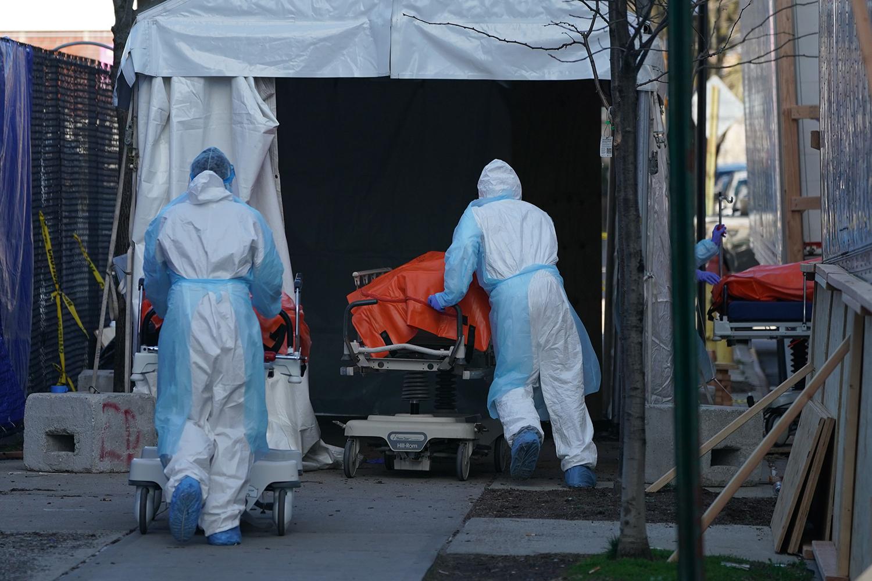 New York temporary COVID morgue