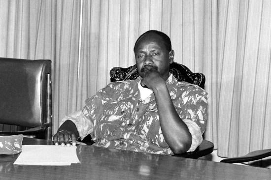 National Resistance Army leader Yoweri Museveni