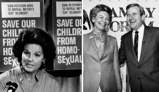 Anita Bryant, Phyllis Schlafly, and the Rev. Jerry Falwell