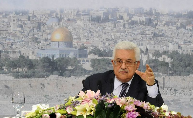 Palestinian President Mahmoud Abbas makes a speech to confirm that the Palestinian Authority will request full membership at the United Nations on Sept. 16, 2011 in Ramallah, West Bank.