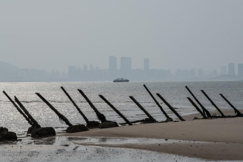Xiamen, China is seen from Taiwan.