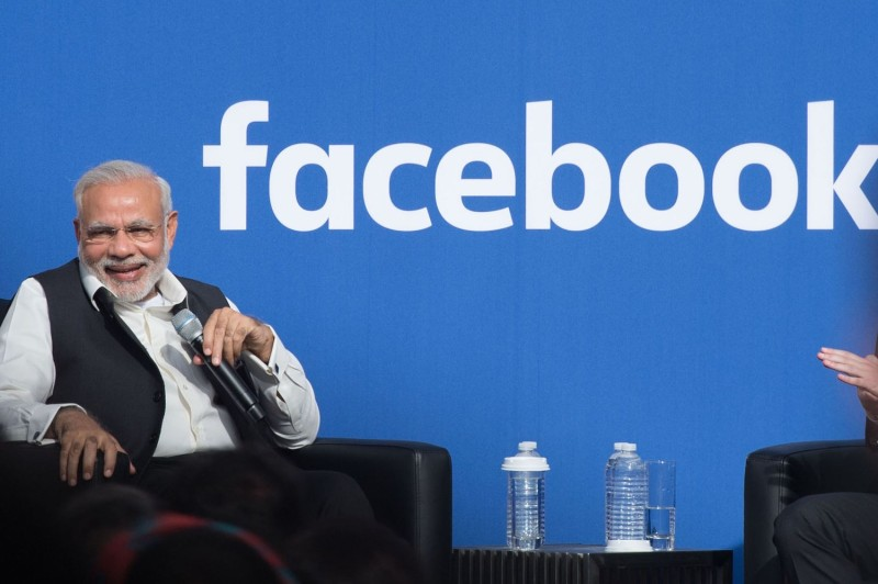 Indian Prime Minister Narendra Modi attends a townhall meeting at Facebook headquarters in Menlo Park, California, on Sept. 27, 2015.