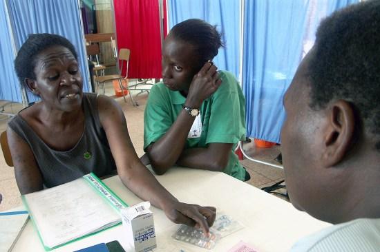 Two Ugandan HIV patients