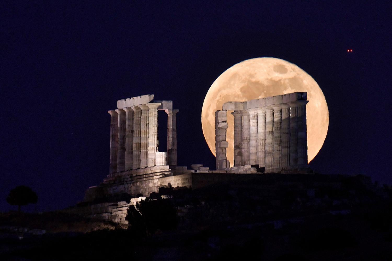 Flower full moon in Greece