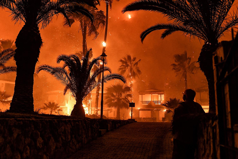 Wildfire in Greece