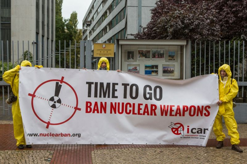Anti-nuclear activists protest in Berlin.
