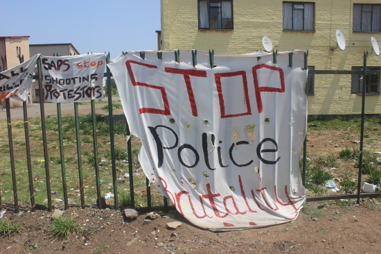 Protests against police brutality in South Africa