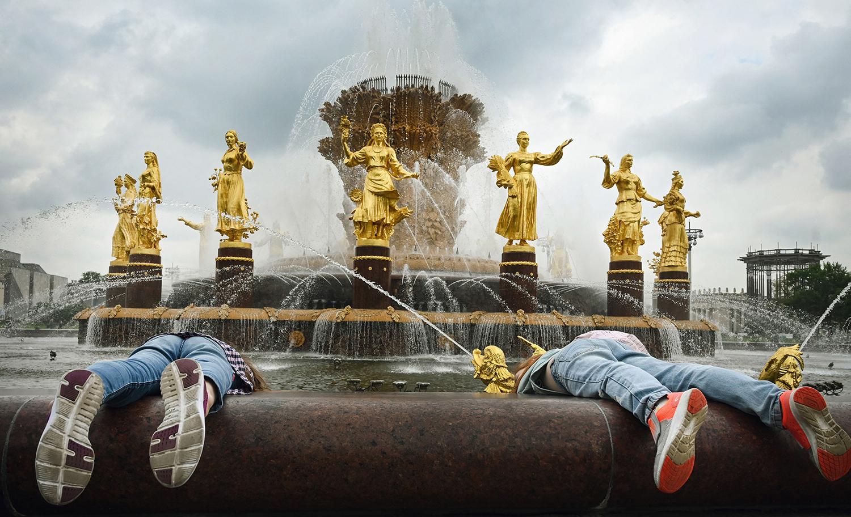 Russia fountain