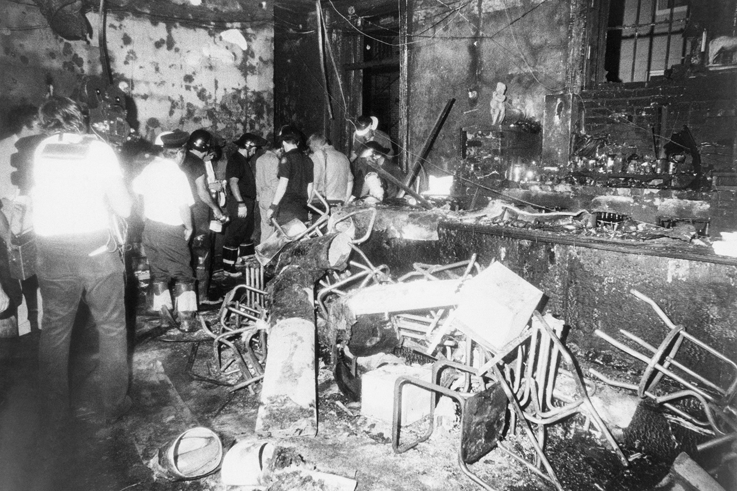 Fire at Upstairs in 1973