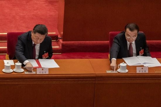 China's President Xi Jinping, left, and Premier Li Keqiang