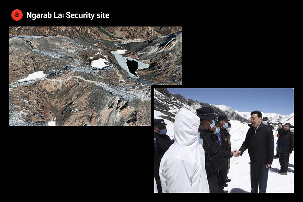 A confirmed security site in Ngarab La, Bhutan.