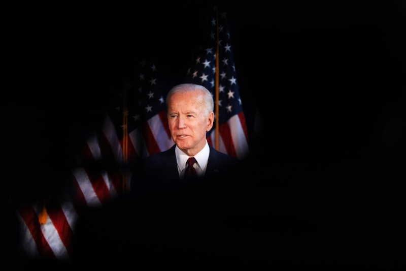Biden delivers a speech on Trump's foreign policy.