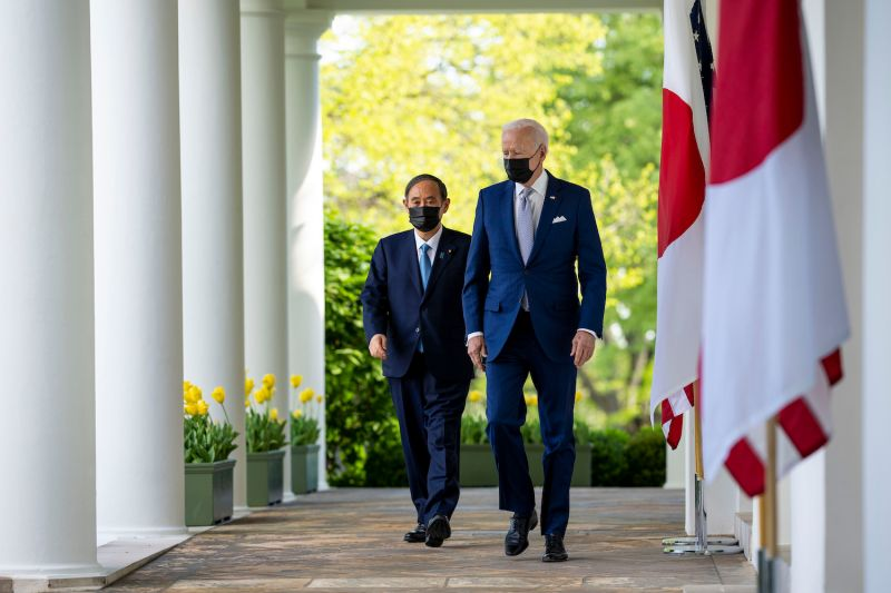 U.S. President Joe Biden and Japanese Prime Minister Yoshihide Suga