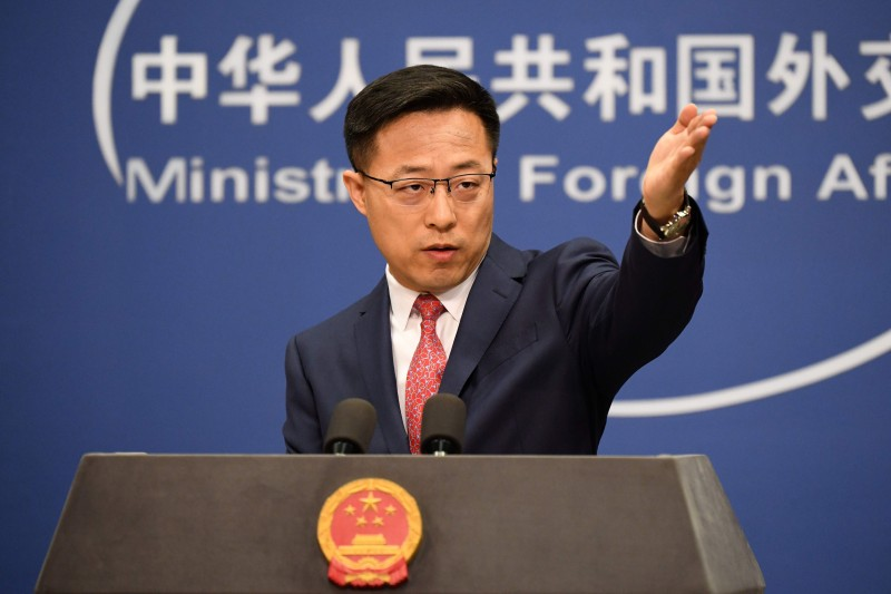 Chinese Ministry of Foreign Affairs spokesperson Zhao Lijian takes a press question.