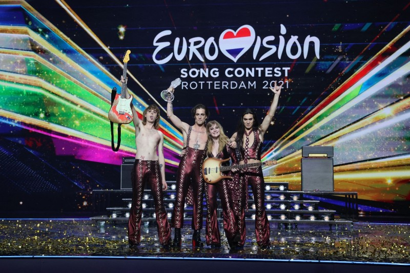 The band Maneskin at Eurovision
