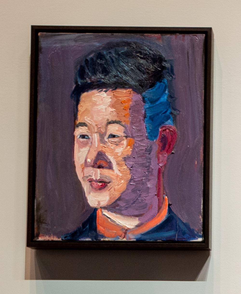 A portrait of Joseph Kim by former President George W. Bush.