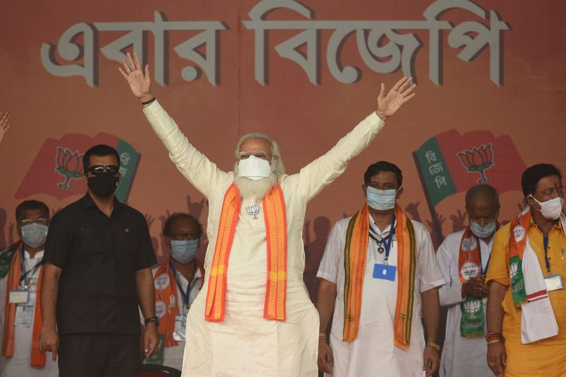 Modi campaigns in West Bengal