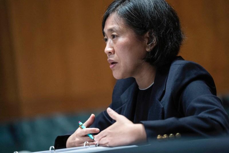 U.S. Trade Representative Katherine Tai testifies before the Senate.