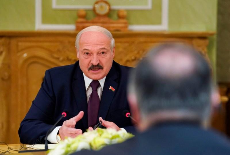 Belarusian President Aleksandr Lukashenko speaks.