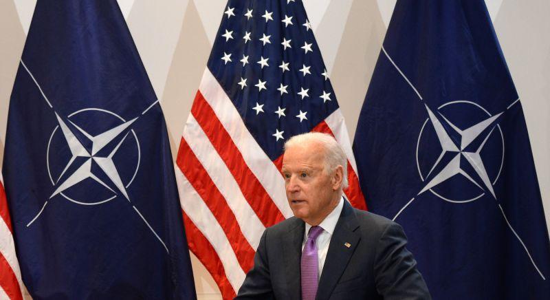 Then-U.S. Vice President Joe Biden speaks in Munich.